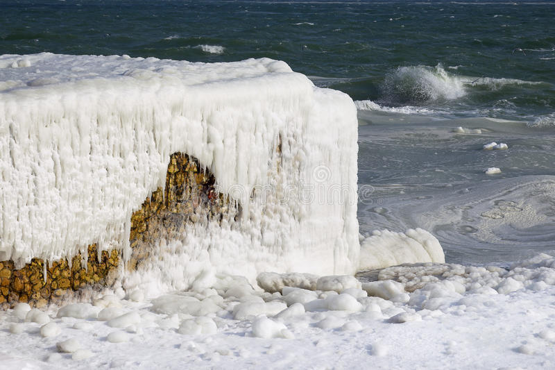 Download Black Sea Coast Covered With Ice Stock Image - Image: 23138869