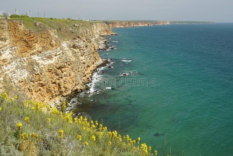 The Black Sea coast to Cape Kaliakra stock photo