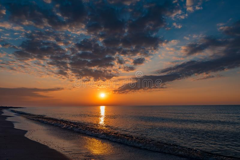 Black Sea colorful sunset summer days royalty free stock photos