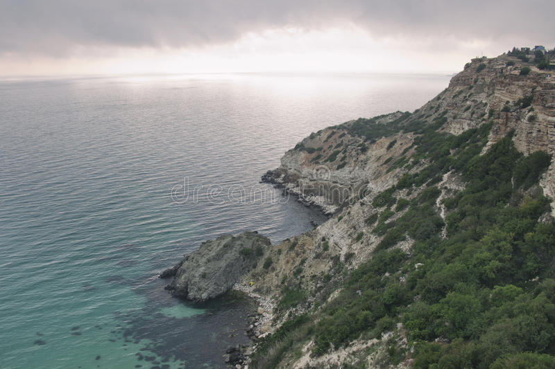 Black Sea. Fiolent Cape. Crimea. Turquoise water of the Black Sea. Fiolent Cape. Crimea royalty free stock images