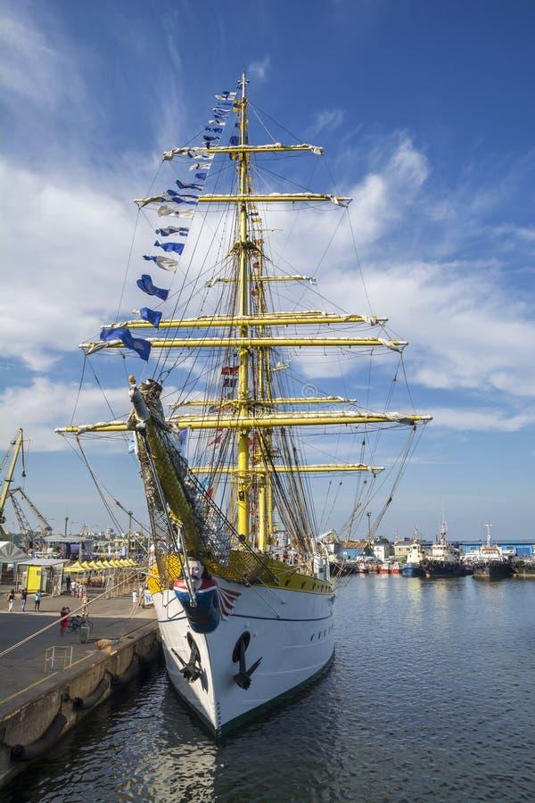 Black Sea högväxt skeppregatta 2016, Constanta, Rumänien royaltyfria bilder
