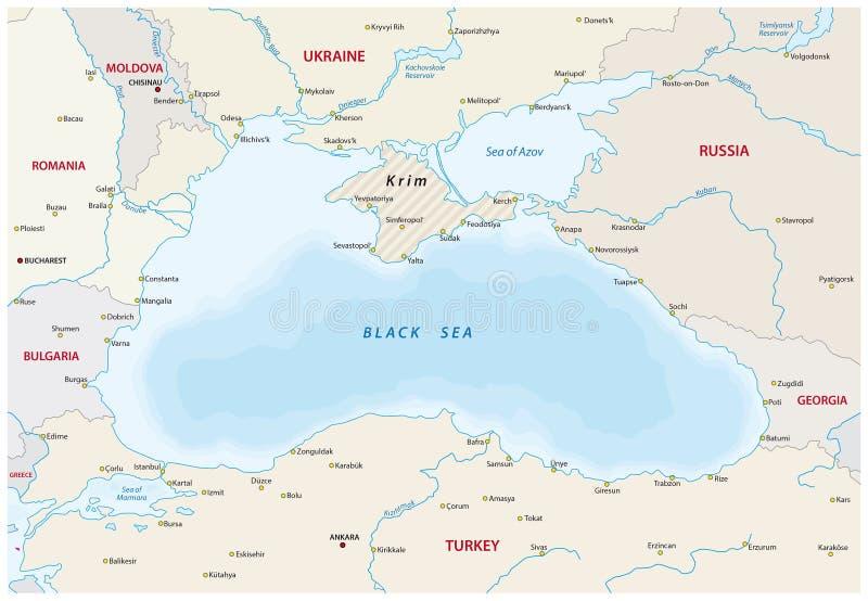 Black sea map stock vector Illustration of border caucasus 68367147