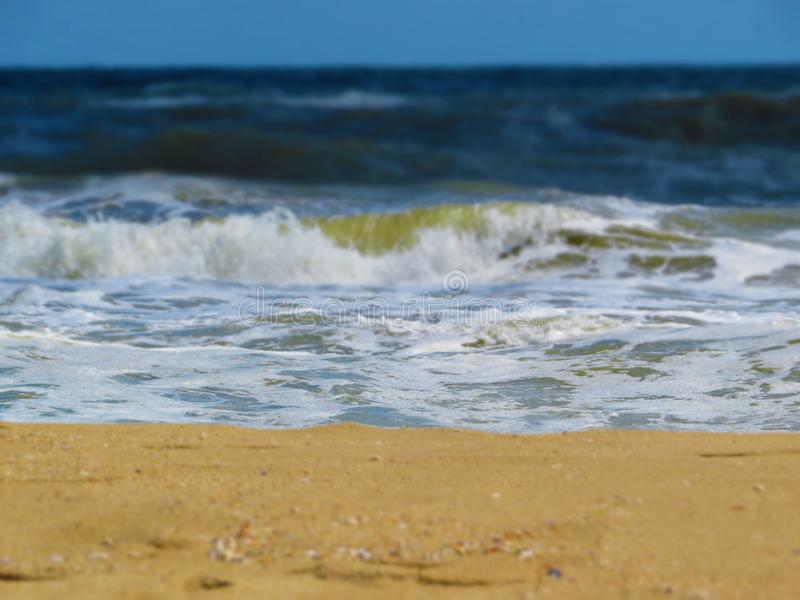 Black sea sands and stormy waves. Summer vacation. Black sea sands and stormy waves. Summer vacation and fun stock photo