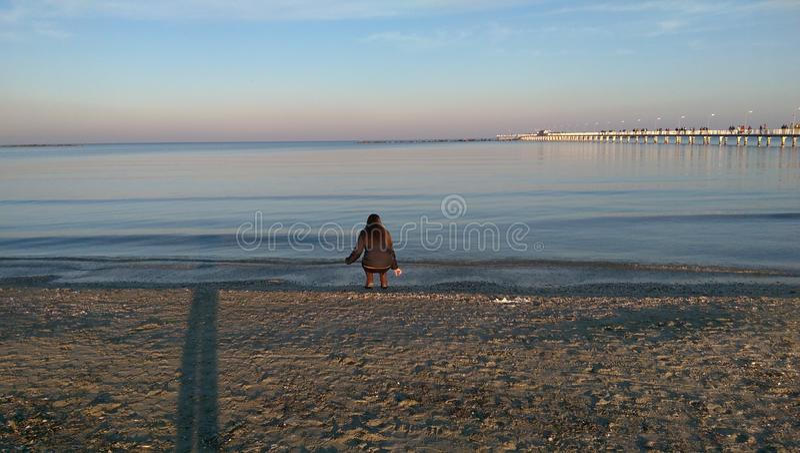 Black Sea shores in winter royalty free stock photos