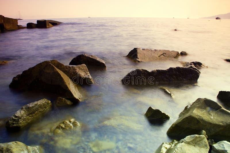 Black sea sunset stock image