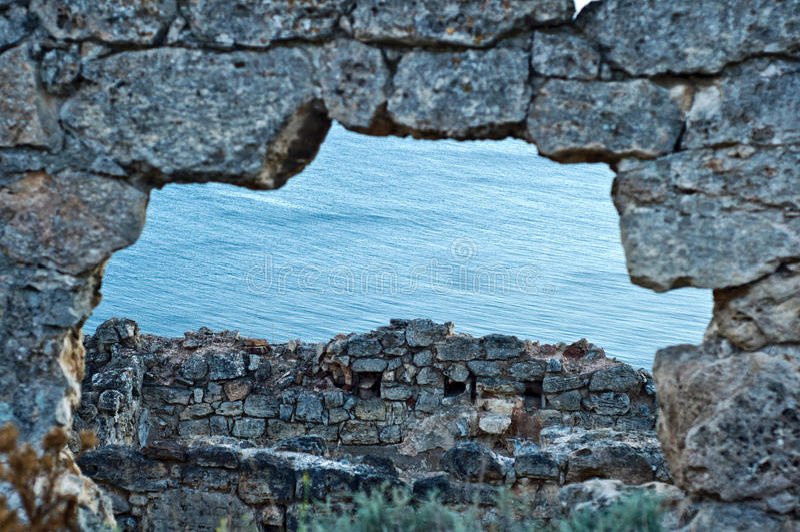 Black Sea sunset landscape. royalty free stock photo
