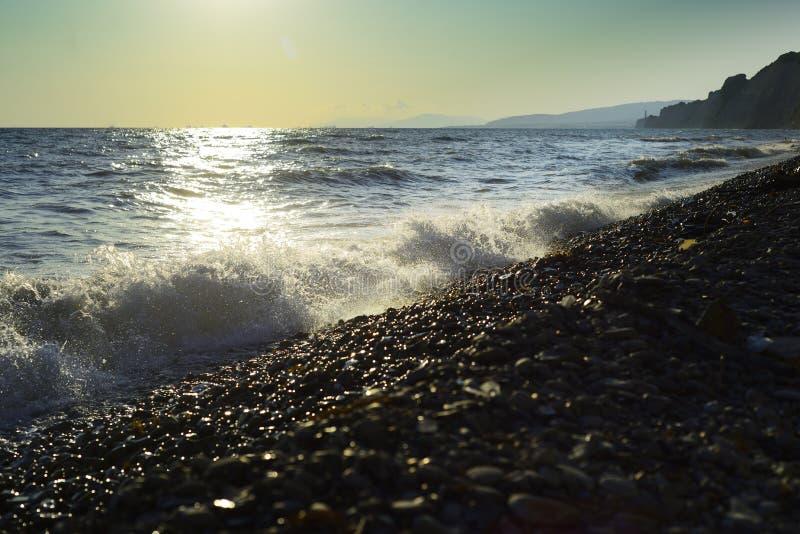 Black Sea wave Sommar royaltyfria bilder