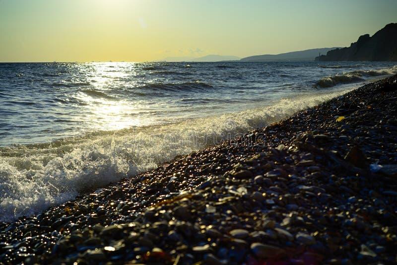 Black Sea wave Sommar royaltyfria foton