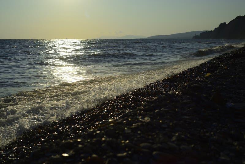 Black Sea wave Sommar royaltyfri fotografi