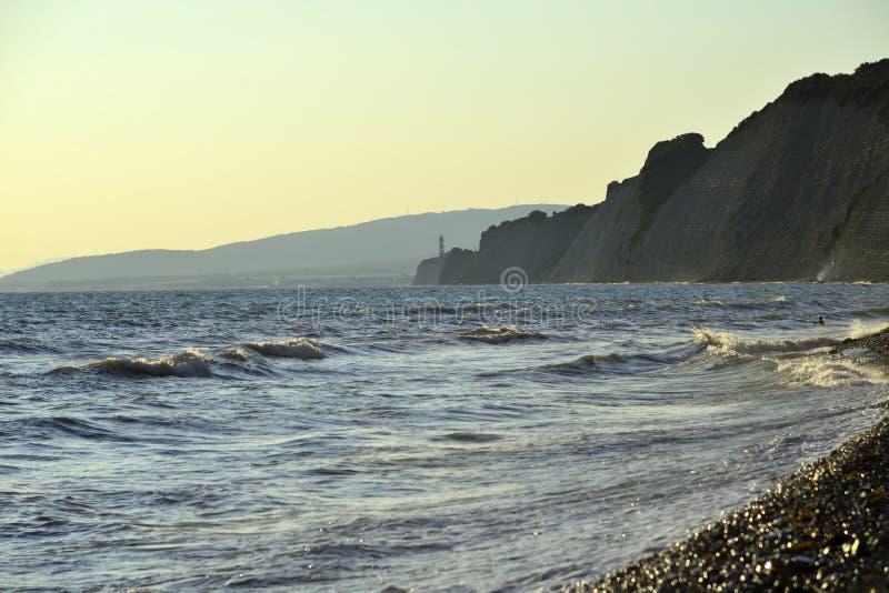 Black Sea wave Sommar arkivfoto