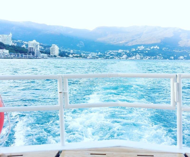Black sea. Yalta. Crimea. stock photo