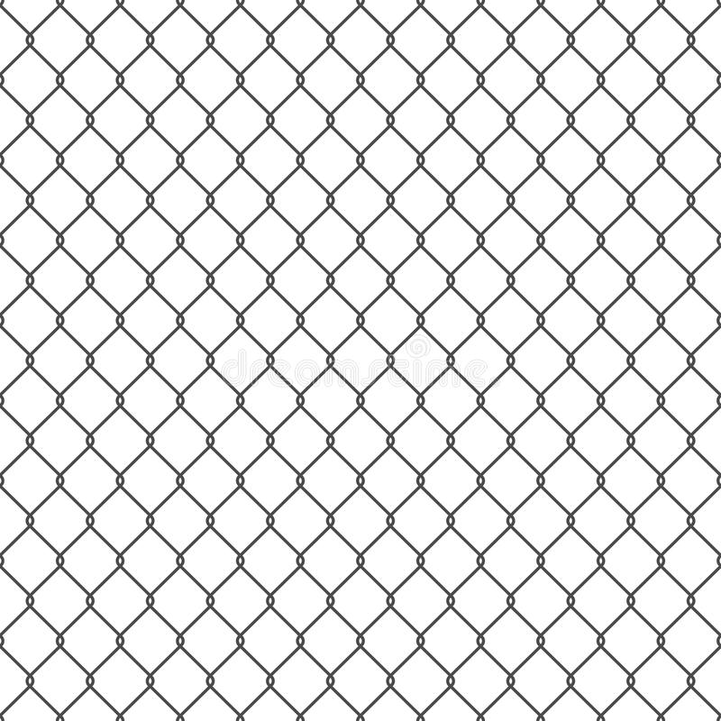 Black seamless chain link fence background. Vector seamless chain link fence background. EPS10 royalty free illustration