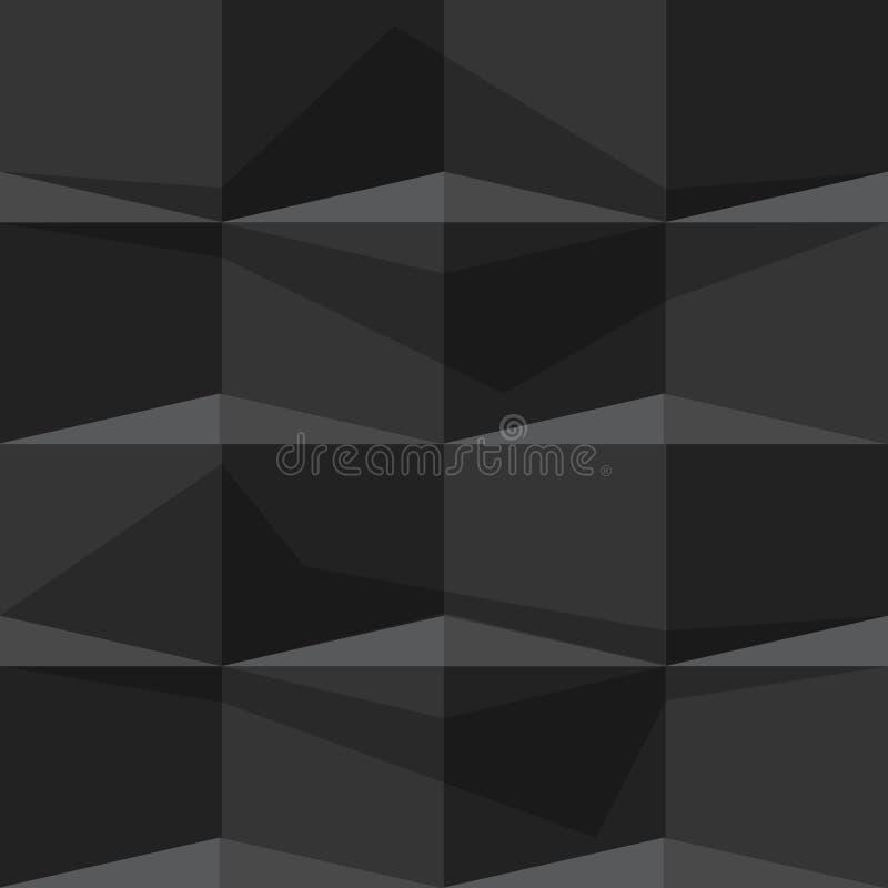 Black Seamless geometric background pattern иллюстрация вектора