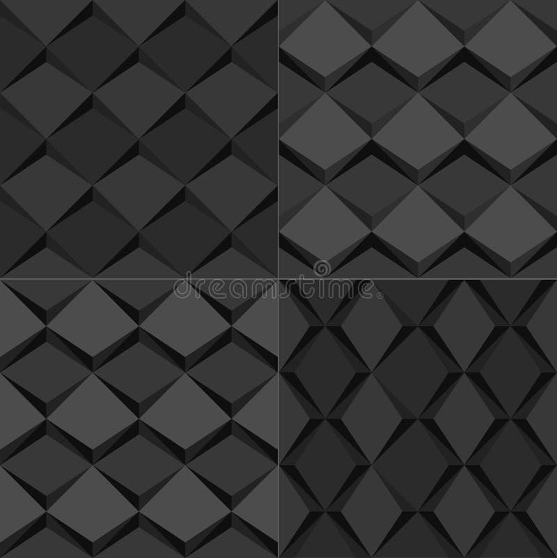 Black Seamless geometric background pattern иллюстрация штока