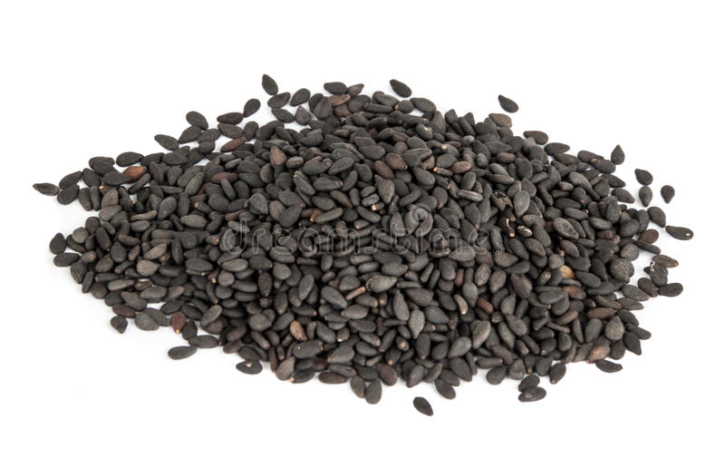 Black Sesame Seeds. Black sesame seed or also know as Sesamum Indicum Seed being its botanical name stock photography