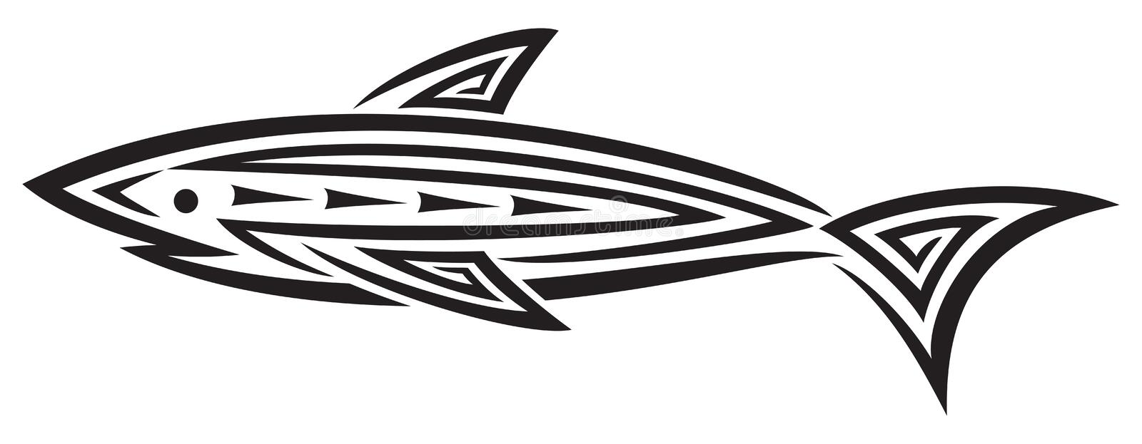 Download Black Shark Tattoo For Design Stock Photo - Image: 23802626