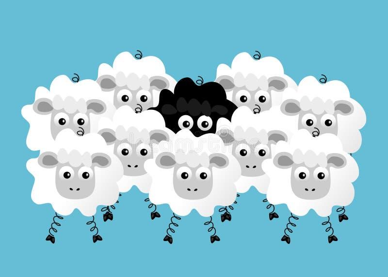 Black sheep vector illustration