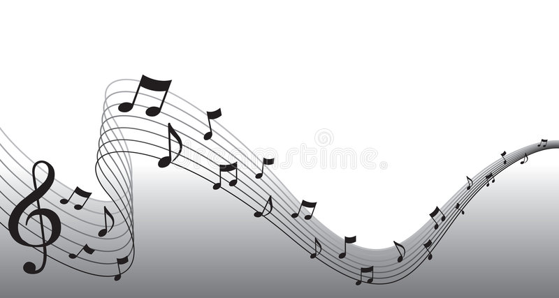 Black Sheet Music Page Border stock illustration