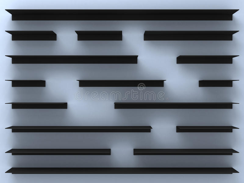 Download Black Shelves Royalty Free Stock Photo - Image: 10605205