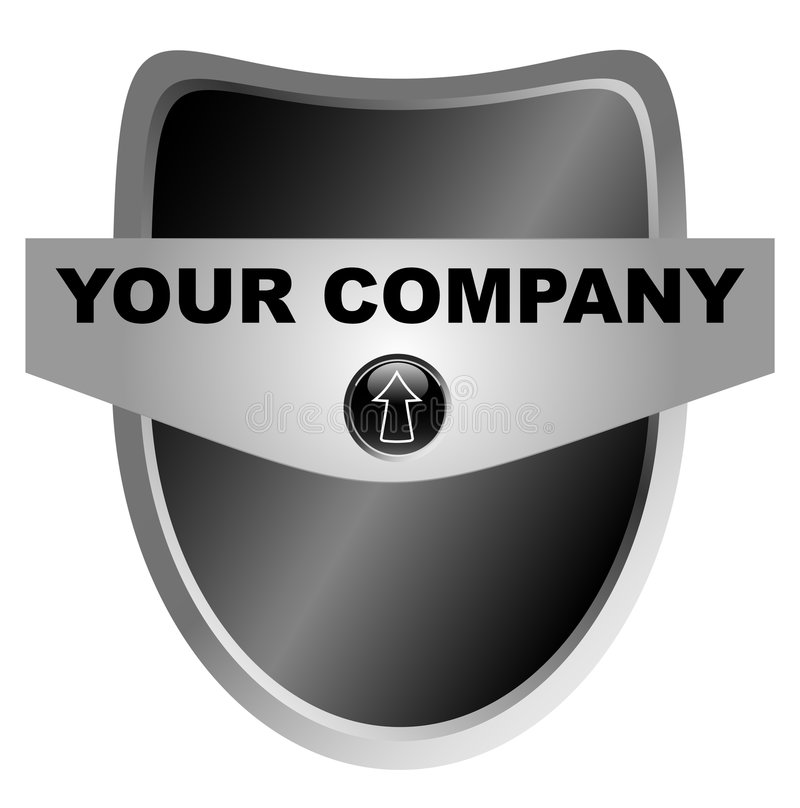 Free Black Shield With Your Logo Stock Images - 8343084