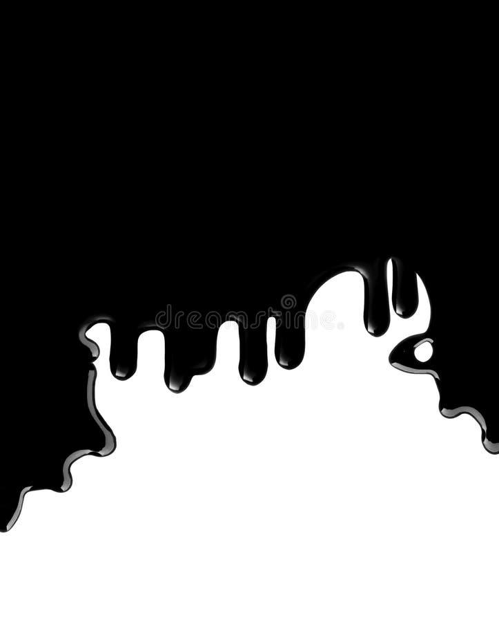 Black shiny dripping oil royalty free illustration