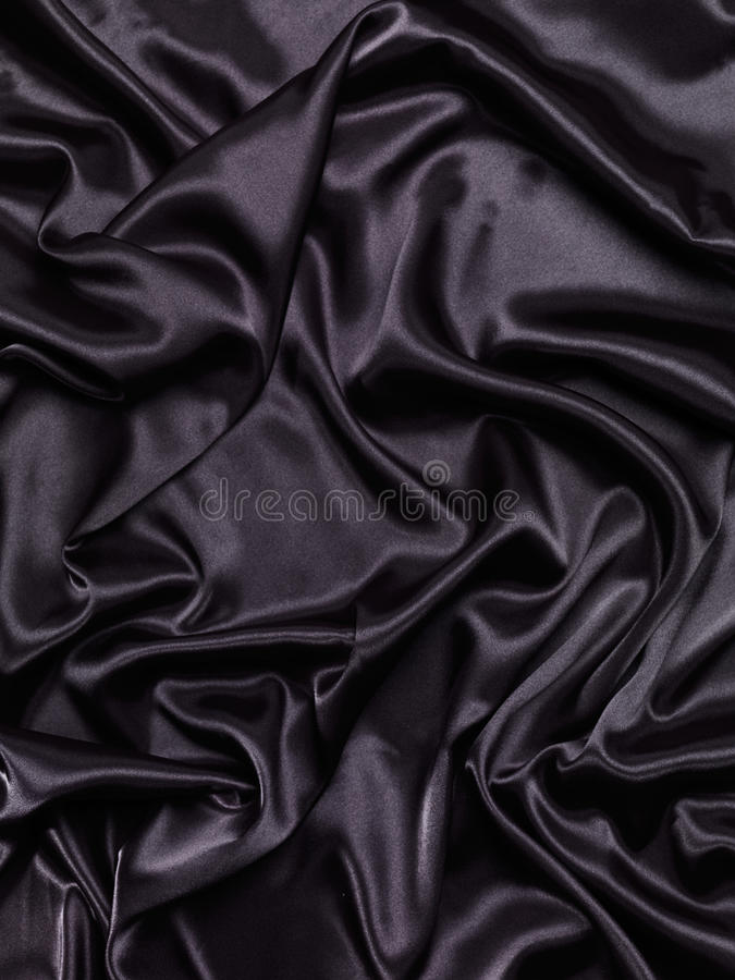 Free Black Shiny Silky Fabric Abstract Background Stock Photography - 53917372