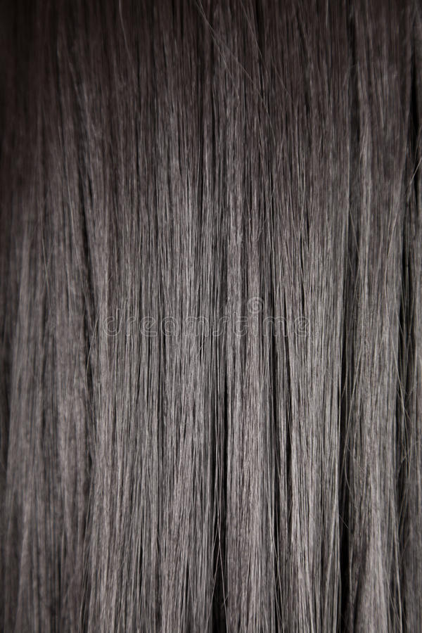 Black shiny straight hair stock photo