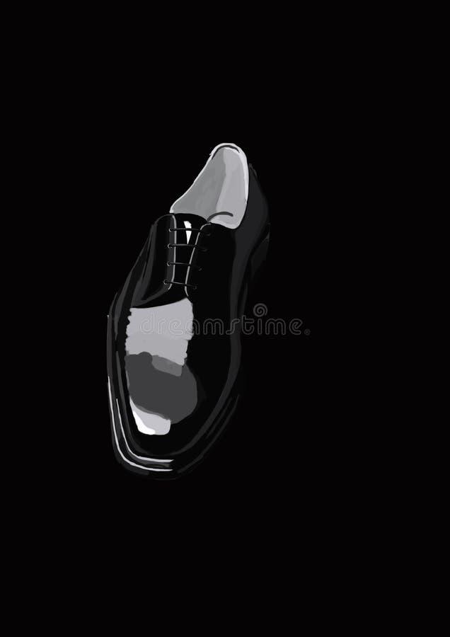 Black shoe stock images