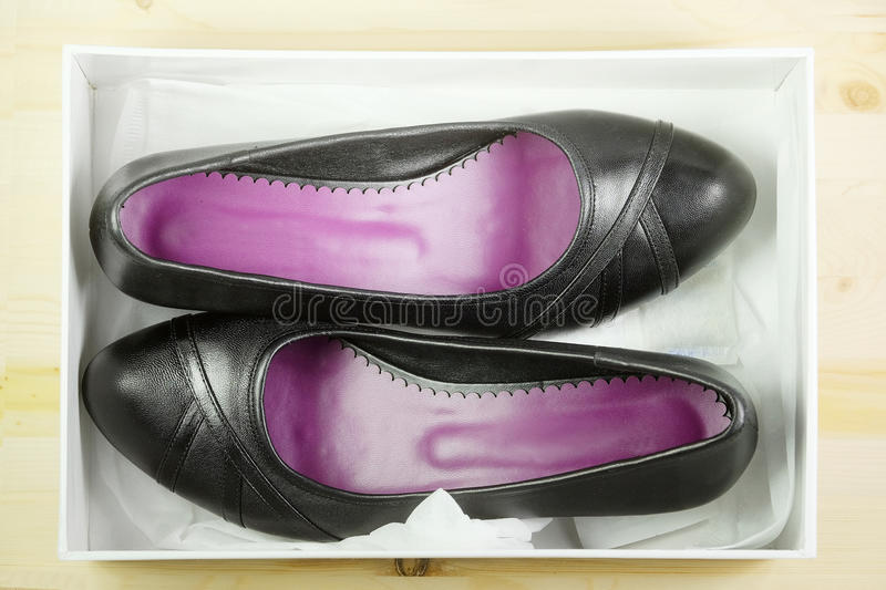 Black shoes. The image of black shoes stock photo