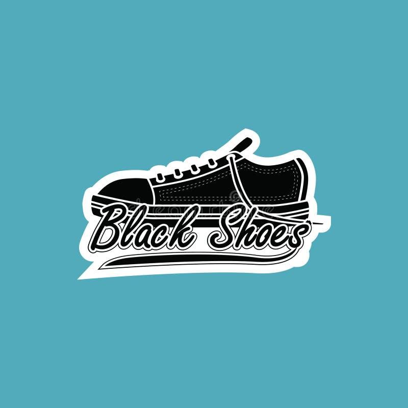 Black shoes logo royalty free stock photos