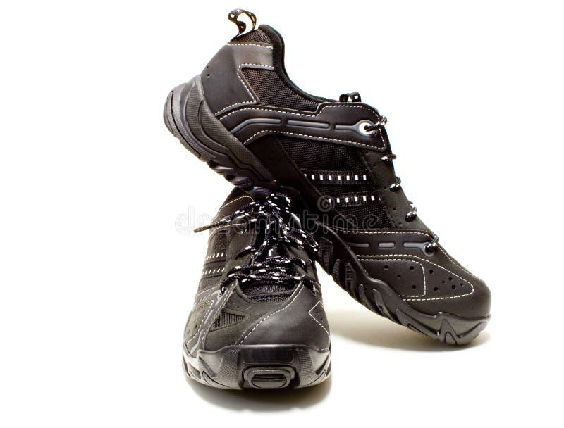 black shoes tennis royaltyfria foton