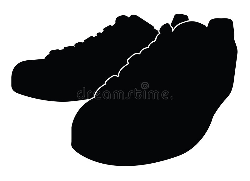black shoes vektorn vektor illustrationer