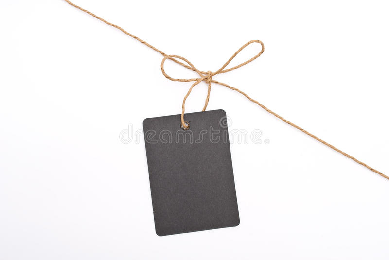 Black shop label with bow stock photos