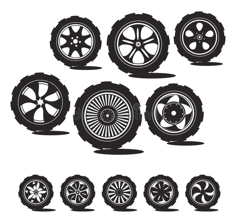 Download Black  Silhouette: Automotive Wheel Stock Vector - Illustration of fast, circle: 23567793