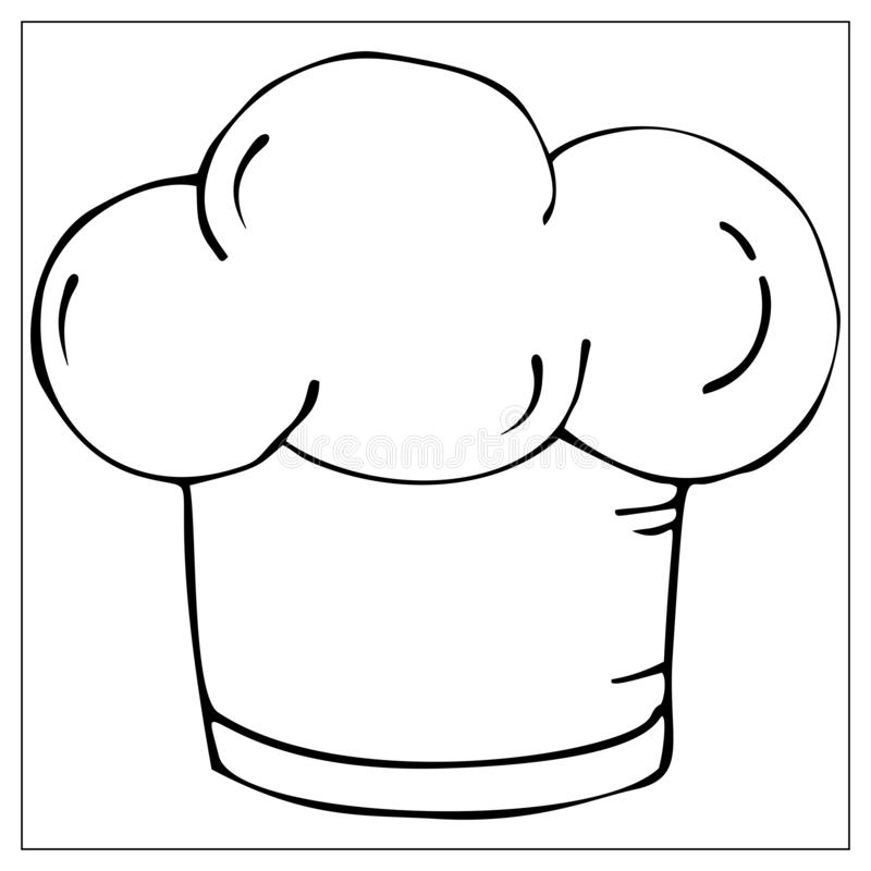 White Chef Hat stock vector. Illustration of cartoon, cook