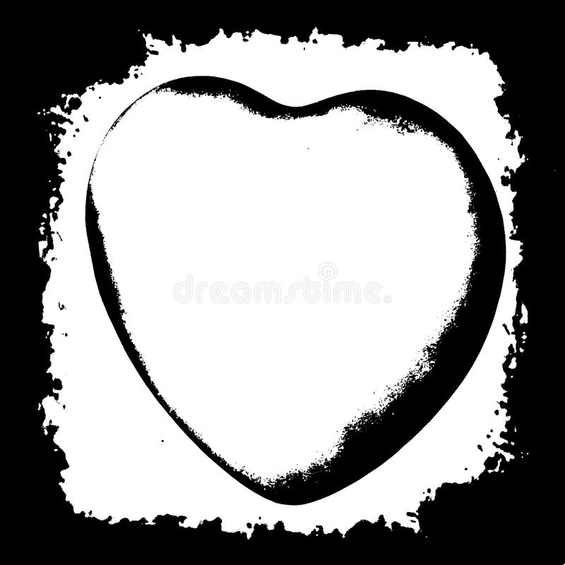 Black silhouette of the human heart vector illustration