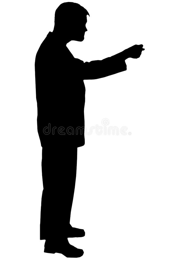 Black silhouette man on white royalty free stock images