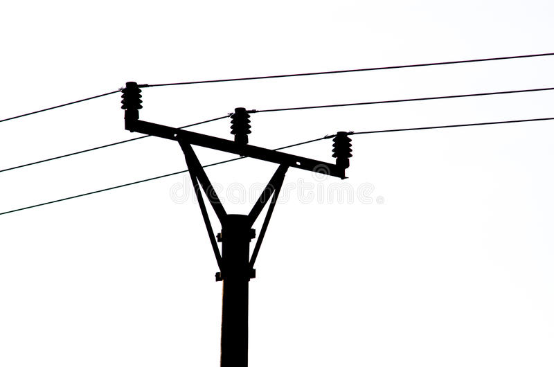 Black Silhouette of Power Line royalty free illustration