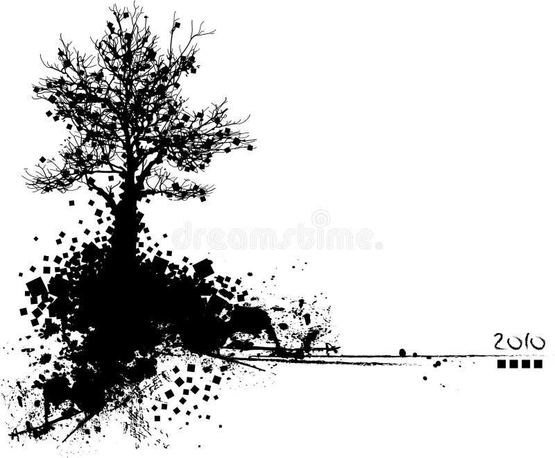 Black Silhouette Of Tree Stock Photos