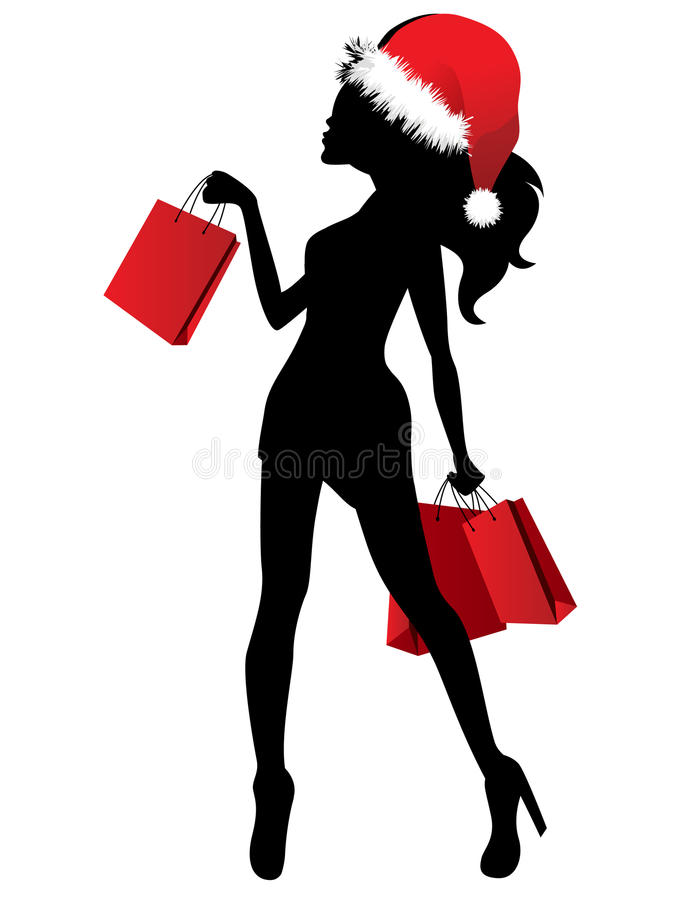 Download Black Silhouette Of Young Woman Stock Vector - Image: 21226773