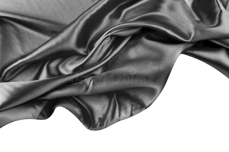 Black silk royalty free stock image