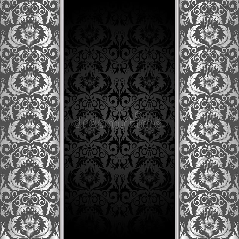 Black and silver background vector illustration