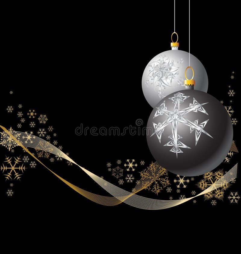 Black And Silver Christmas Bulbs Stock Photos