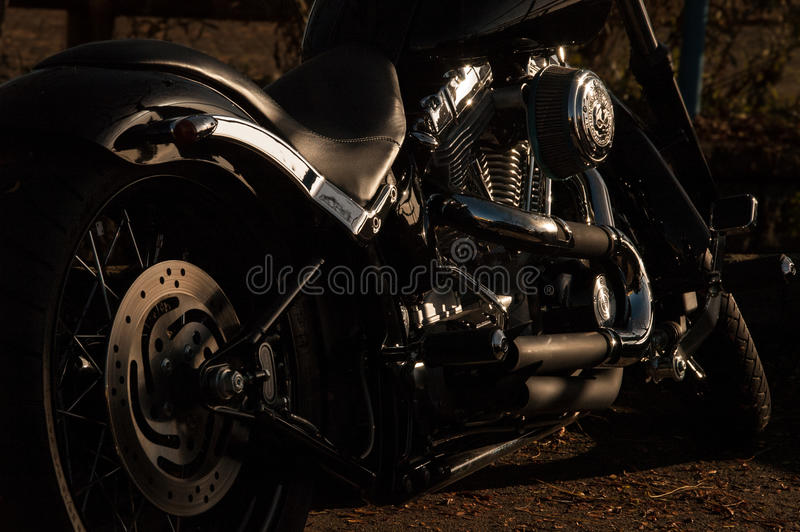 Black And Silver Cruiser Motorcycle On Brown Soil During Night Time Free Public Domain Cc0 Image
