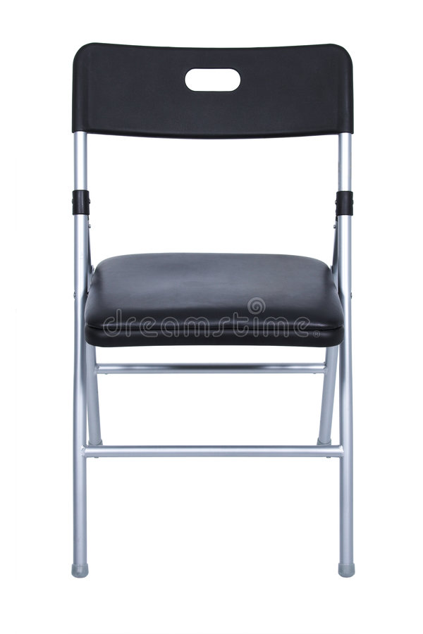 Download Black And Silver Folding Chair Over White Stock Image - Image: 108291