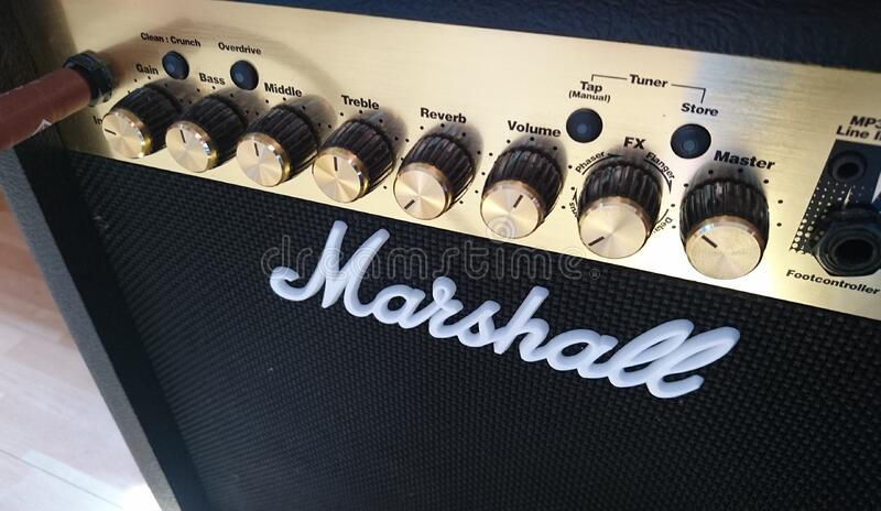 Black And Silver Marshall Guitar Amplifier Free Public Domain Cc0 Image