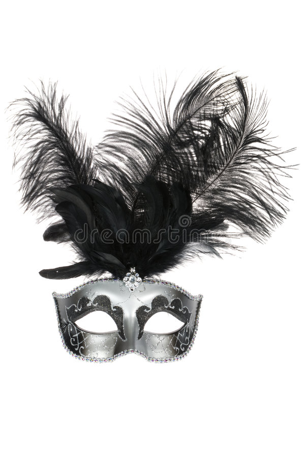 Download Black Silver Venetian Carnival Mask Stock Photo - Image of classic, costume: 7508710