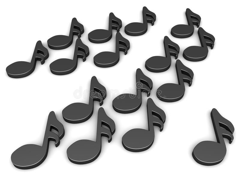 Black Sixteenth Notes Royalty Free Stock Image