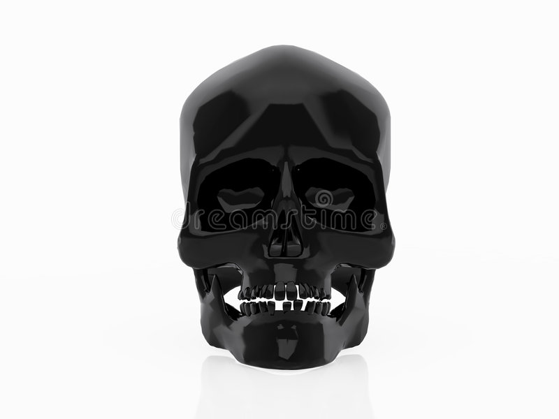 Black skull vector illustration