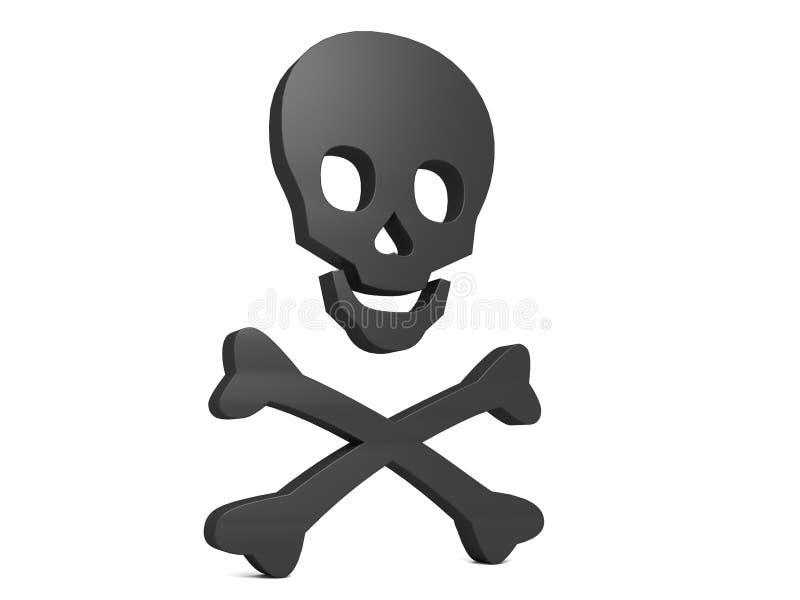 Black Skull Symbol of Poison royalty free stock image
